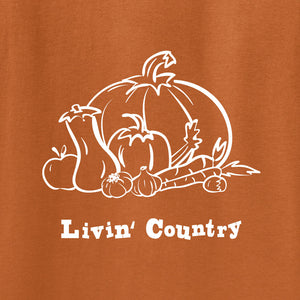 Adult Livin' Country Harvest T-shirt