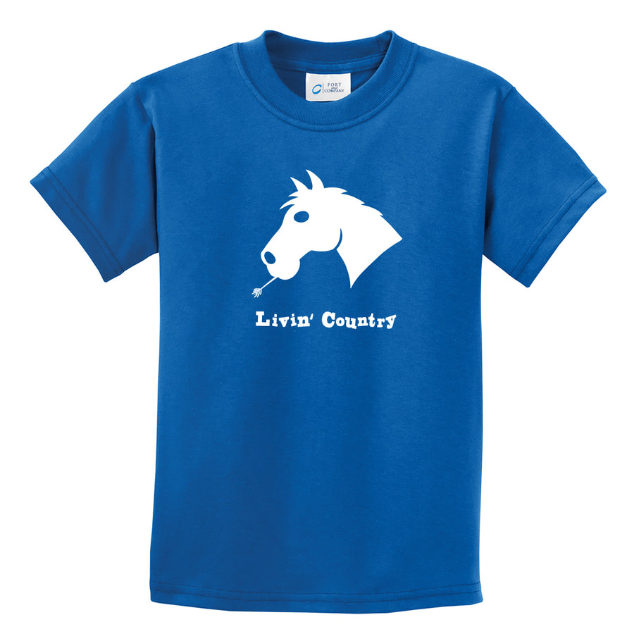 Kid's Livin' Country Horse T-shirt