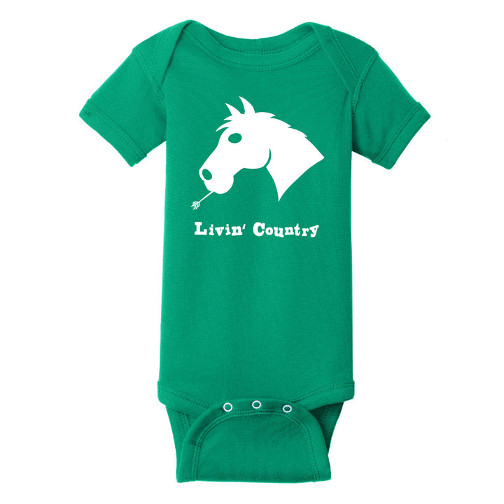 Infant Livin' Country Horse Onesie