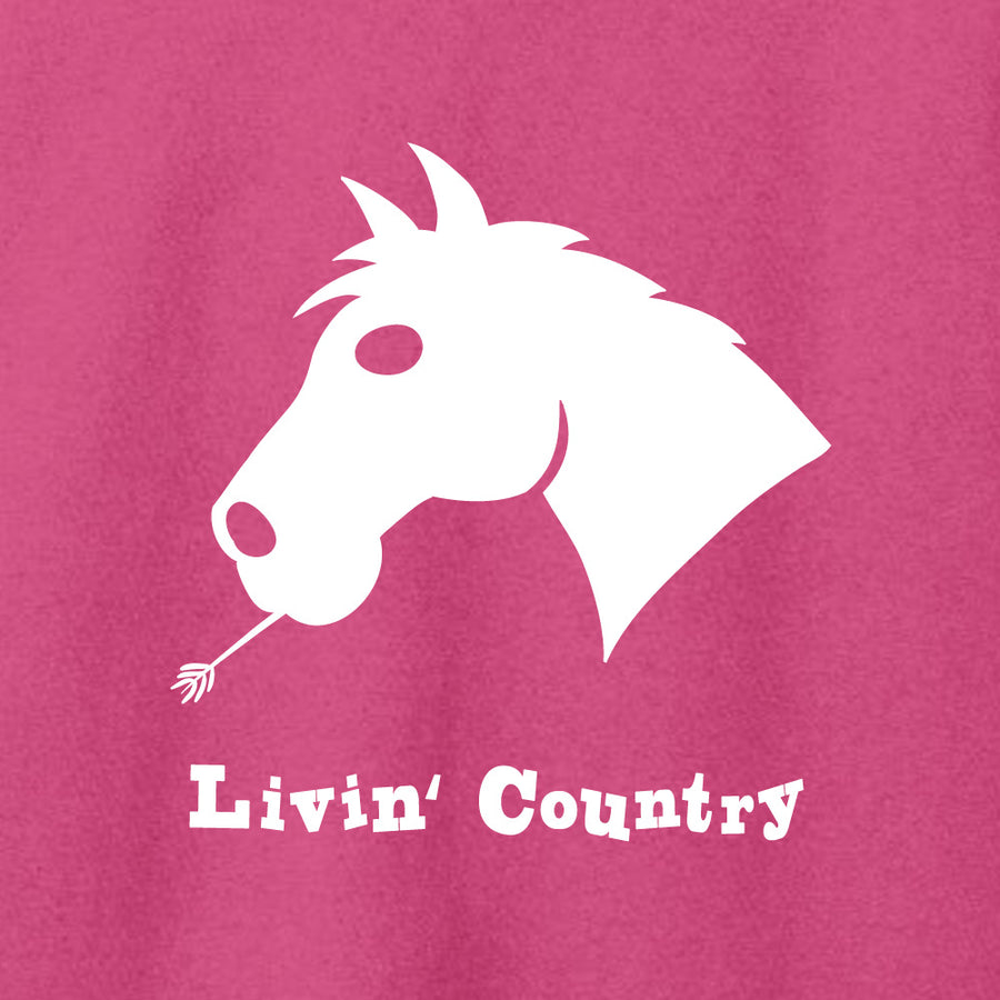 Adult Livin' Country Horse Hoodie