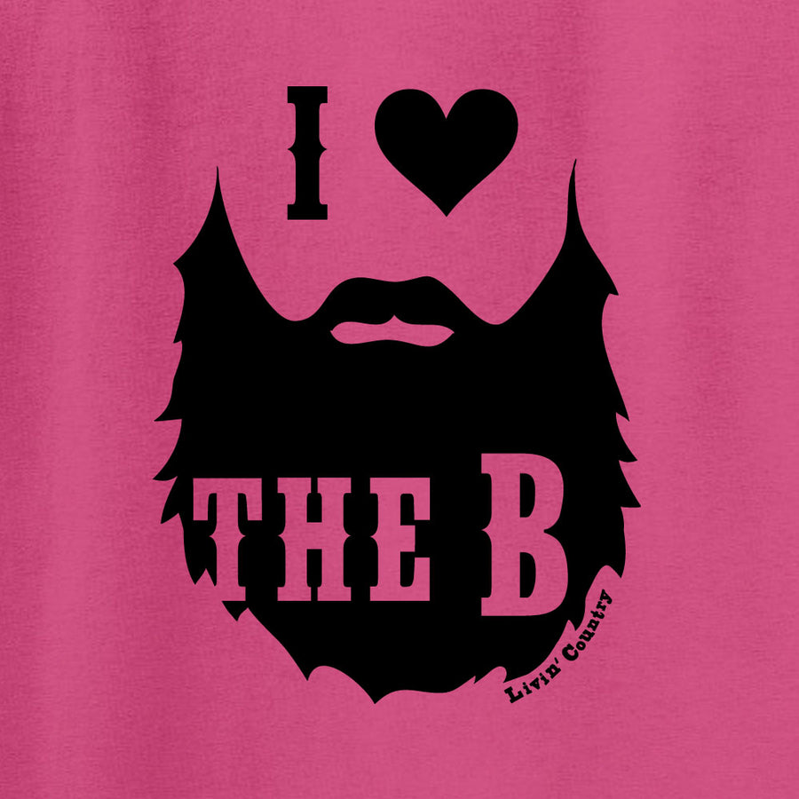 Adult Livin' Country I Heart The Beard T-shirt
