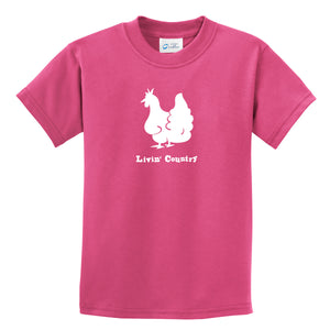 Kid's Livin' Country Chicken T-shirt - Livin' Country Apparel & Accessories  - 3