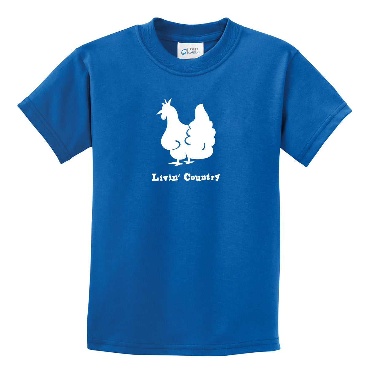 Kid's Livin' Country Chicken T-shirt - Livin' Country Apparel & Accessories  - 5
