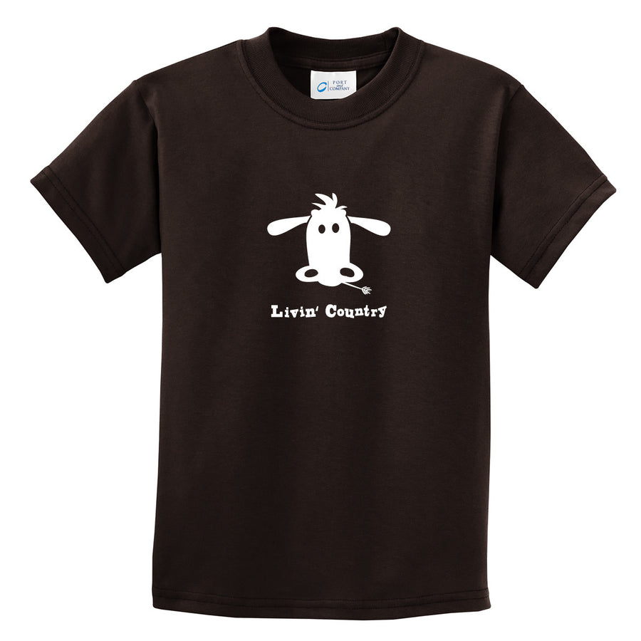 Kid's Livin' Country Cow T-shirt - Livin' Country Apparel & Accessories  - 3