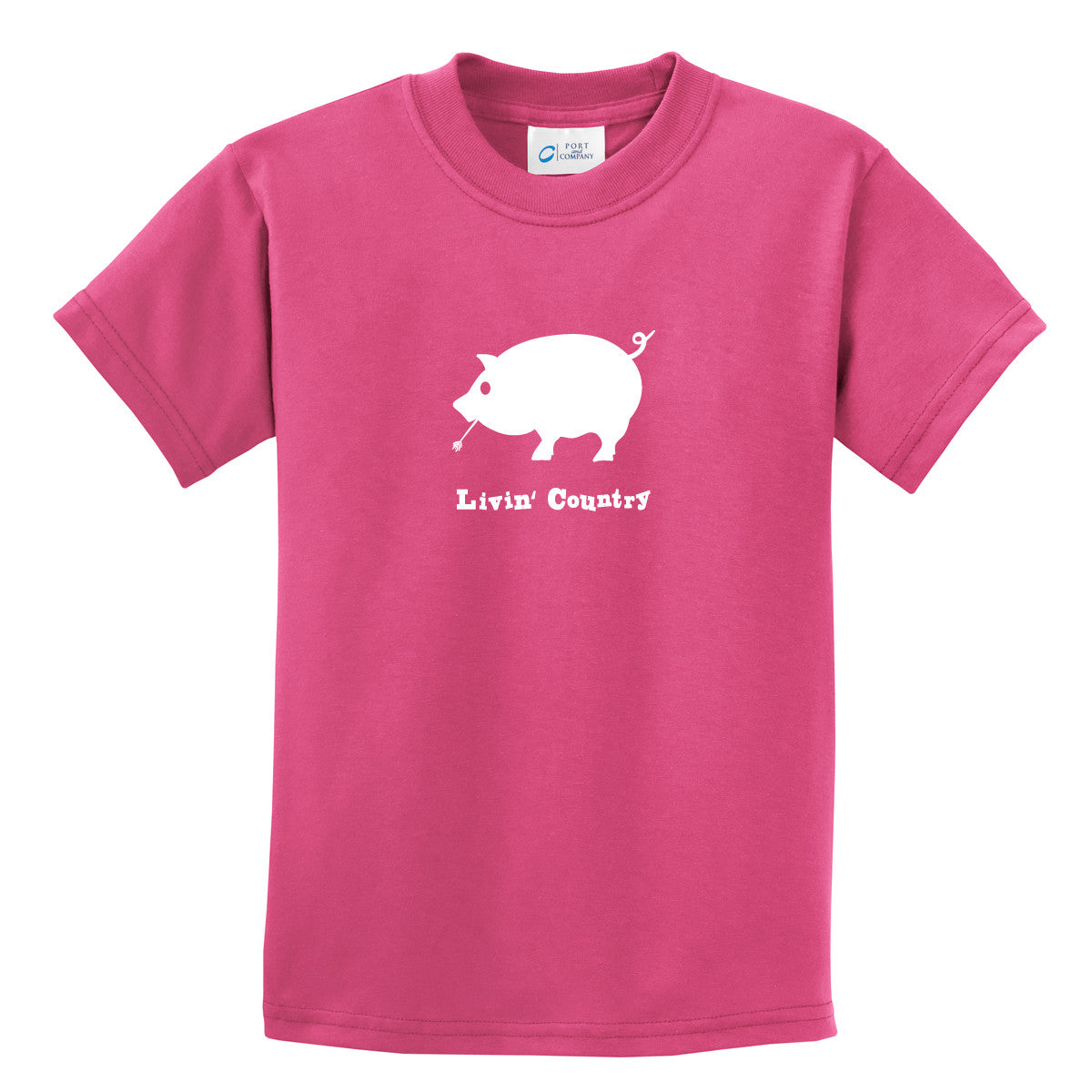 Kid's Livin' Country Pig T-shirt - Livin' Country Apparel & Accessories  - 1