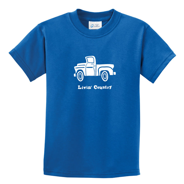 Kid's Livin' Country Truck T-shirt - Livin' Country Apparel & Accessories  - 1