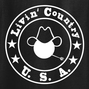 Adult Livin' Country Logo T-shirt