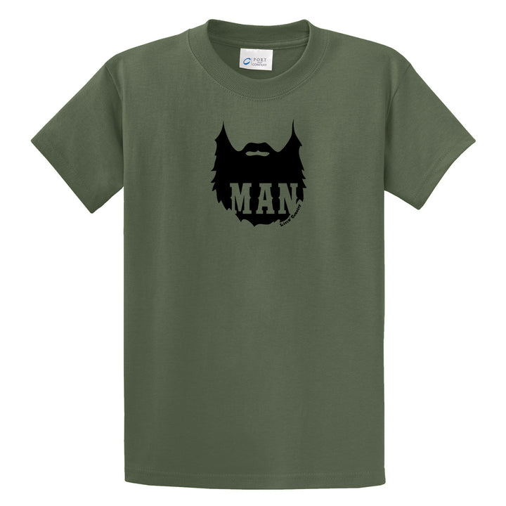 Adult Livin' Country Man Beard T-shirt - Livin' Country Apparel & Accessories  - 1