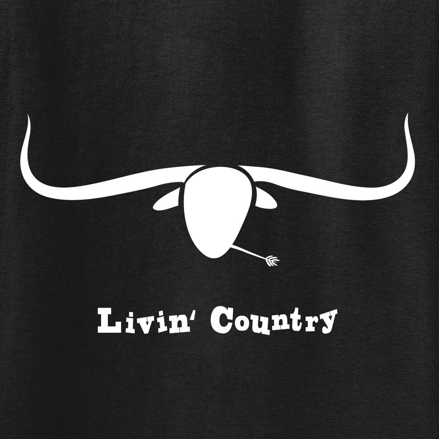 Adult Livin' Country Longhorn T-shirt