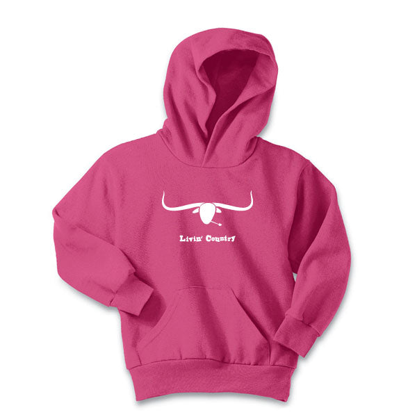 Youth Livin' Country Longhorn Hoodie