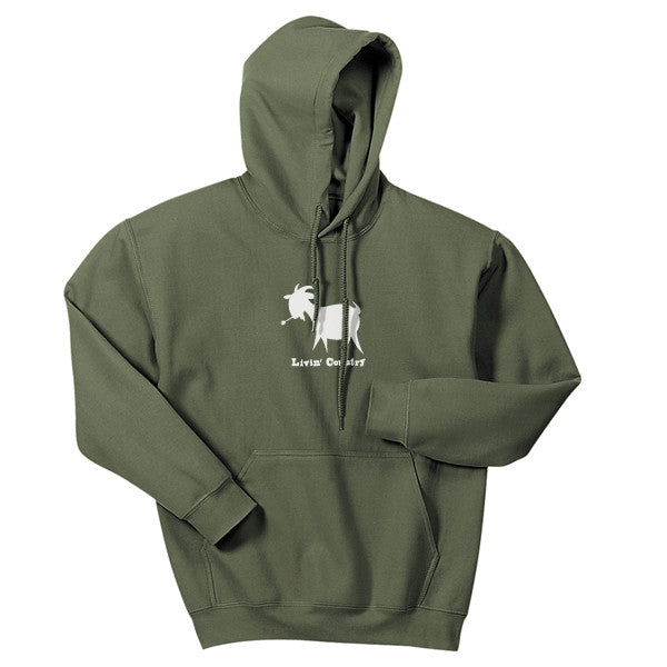 Adult Livin' Country Goat Hoodie - Livin' Country Apparel & Accessories  - 1