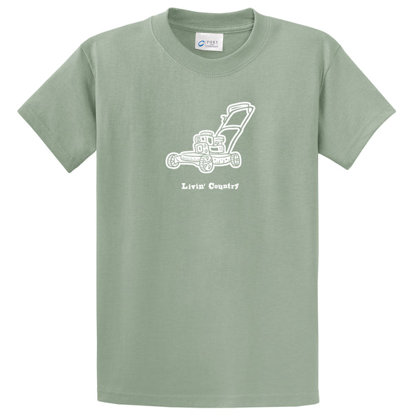 Adult Livin' Country Lawn Mower T-shirt