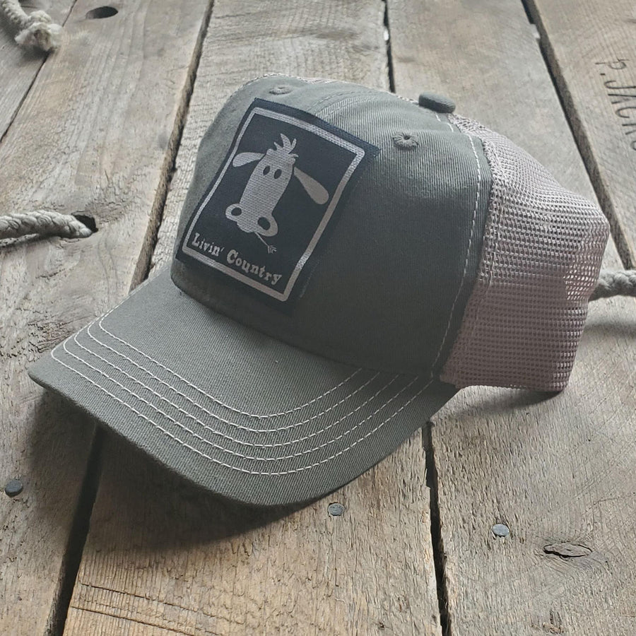 Livin' Country Cow Mesh Patch Hat