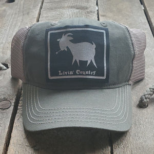 Livin' Country Goat Mesh Patch Hat