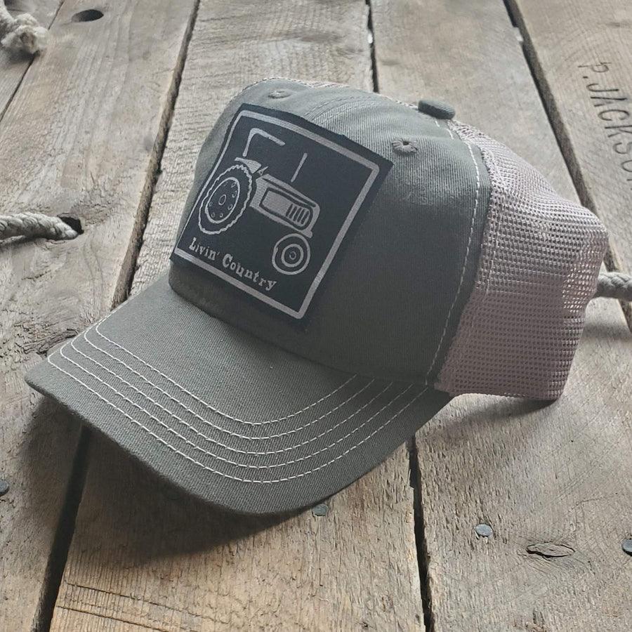 Livin' Country Tractor Mesh Patch Hat
