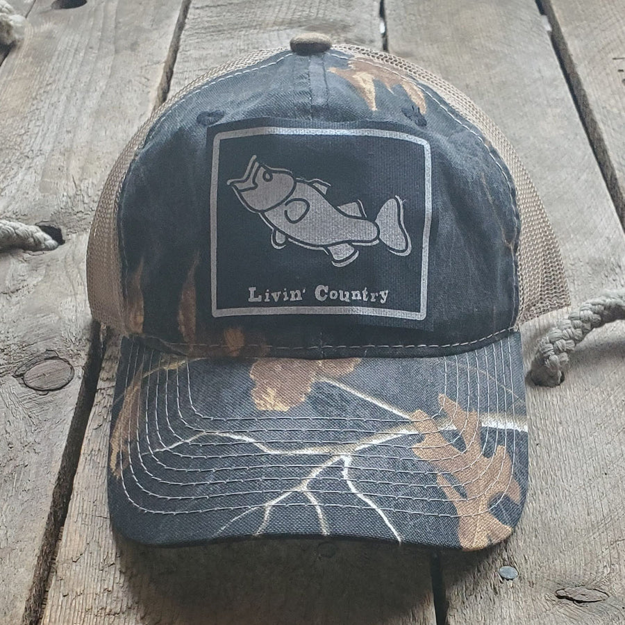 Livin' Country Bass Mesh Patch Hat