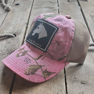 Livin' Country Horse Realtree Pink Mesh Patch Hat