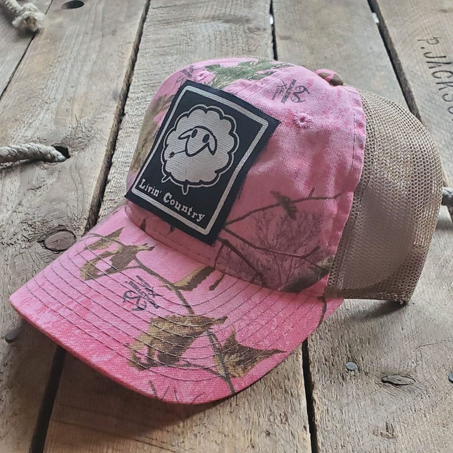 Livin' Country Sheep Realtree Pink Mesh Patch Hat