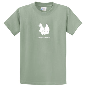 Adult Livin' Country Chicken T-shirt - Livin' Country Apparel & Accessories  - 3