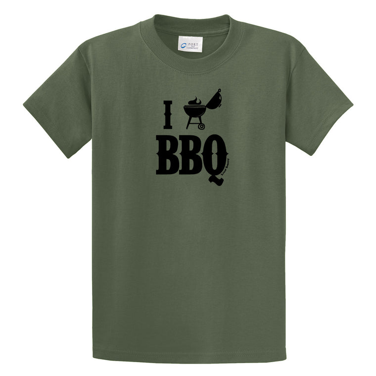 Adult Livin' Country I Love BBQ T-shirt