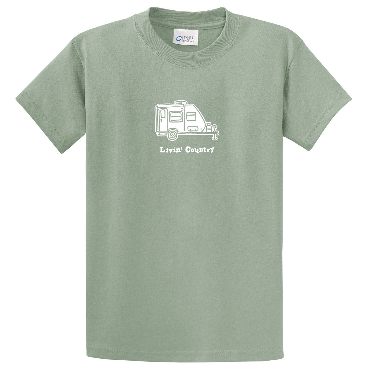 Adult Livin' Country Camper T-shirt