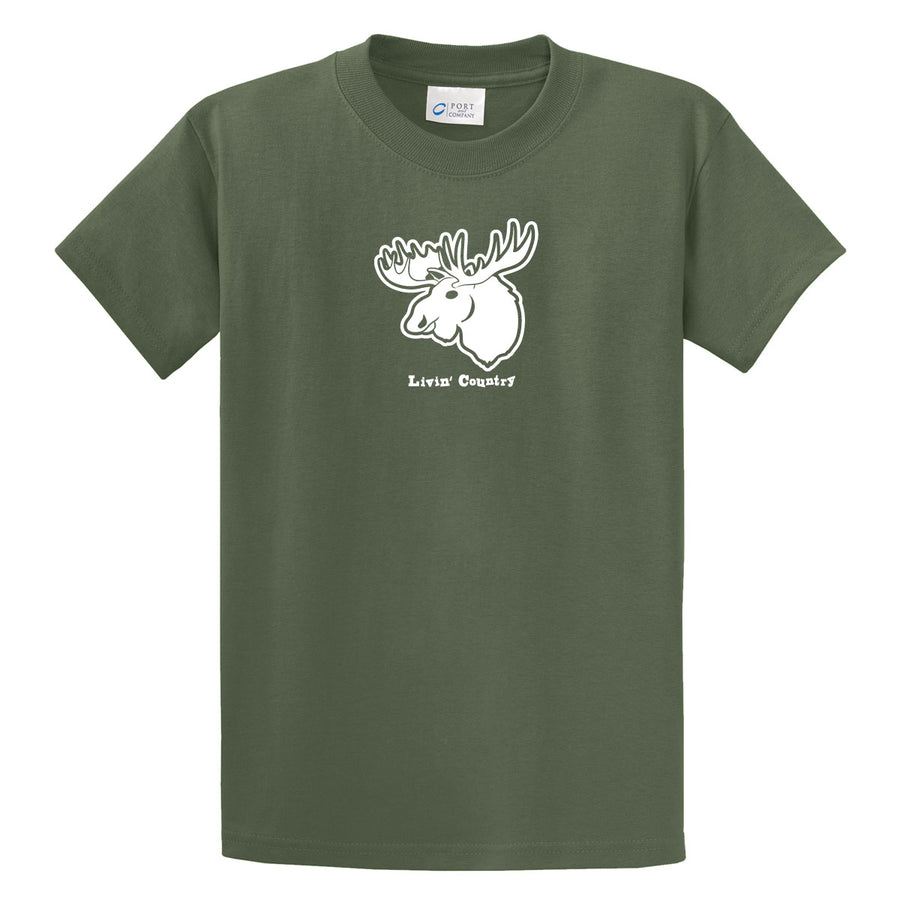Adult Livin' Country Moose T-shirt