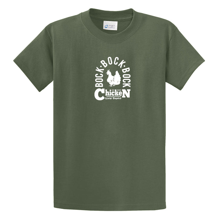 Adult Livin' Country Barnyard Chicken T-shirt