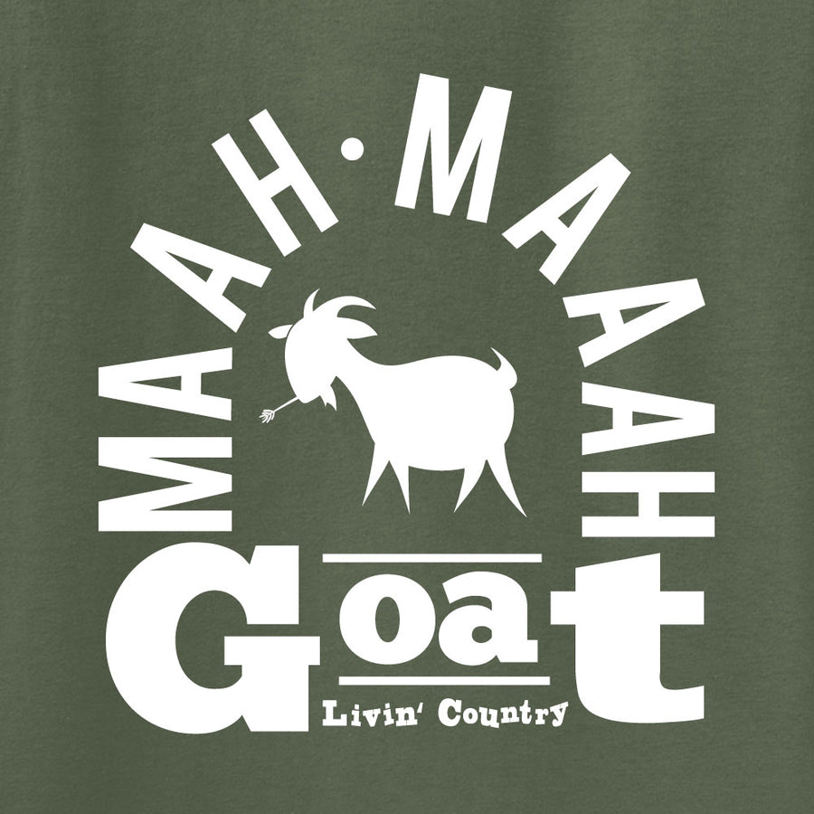 Adult Livin' Country Barnyard Goat T-shirt