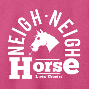Women's Livin' Country Barnyard Horse T-shirt