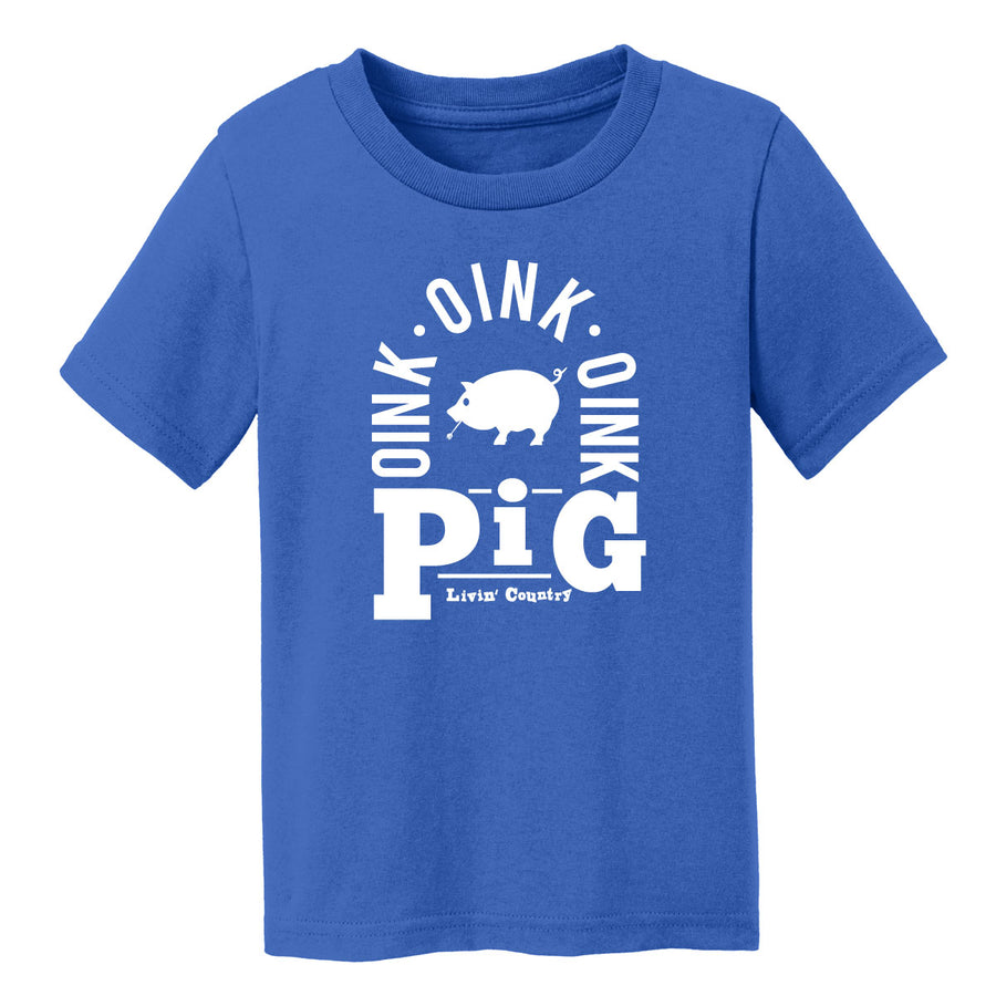 Toddler Livin' Country Barnyard Pig T-shirt