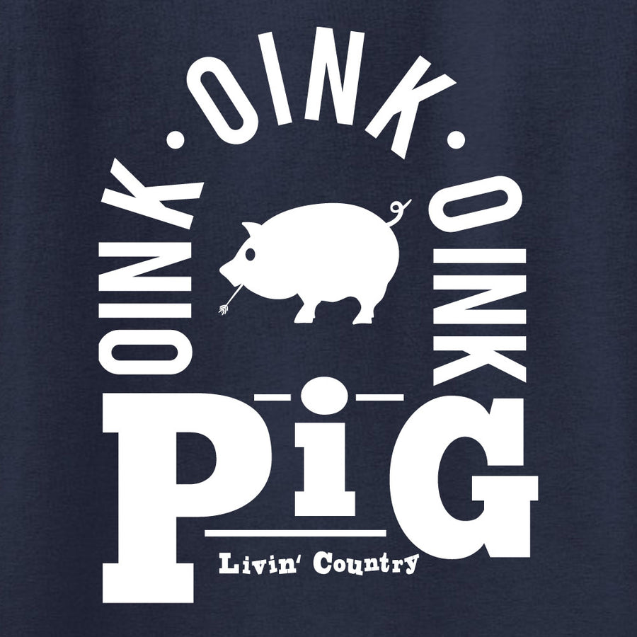 Adult Livin' Country Barnyard Pig T-shirt