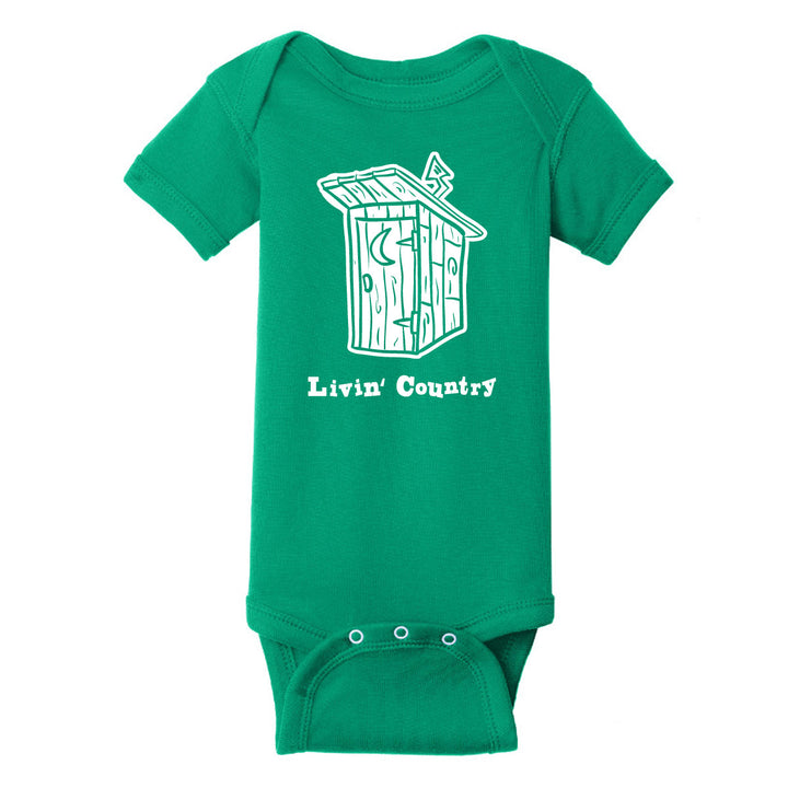 Infant Livin' Country Outhouse Onesie