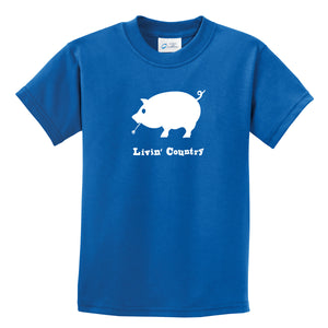 Kid's Livin' Country Pig T-shirt