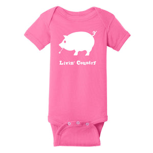 Infant Livin' Country Pig Onesie