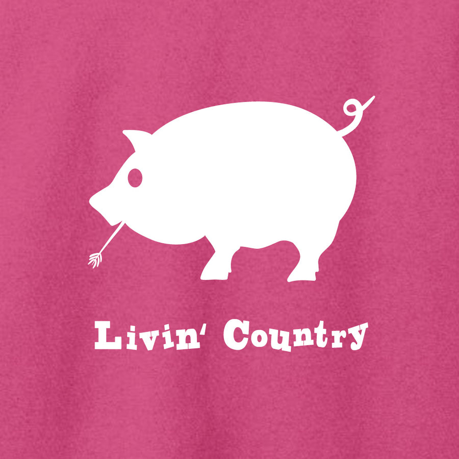Women's Livin' Country Pig T-shirt