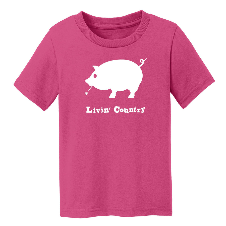 Toddler Livin' Country Pig T-shirt