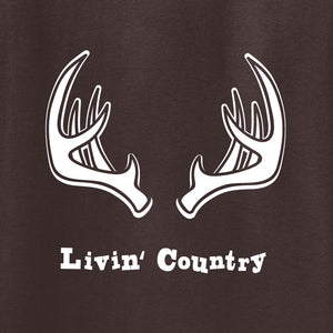 Adult Livin' Country Antler T-shirt