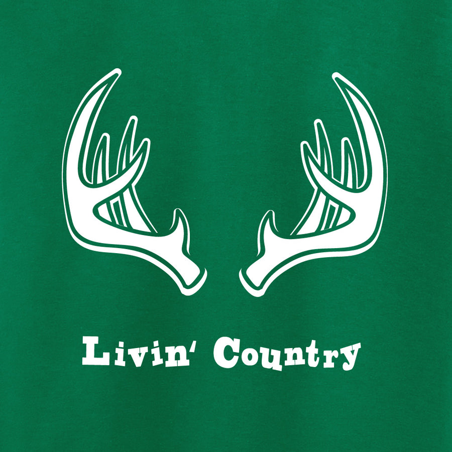 Toddler Livin' Country Antlers T-shirt