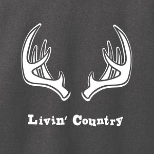 Women's Livin' Country Antlers T-shirt