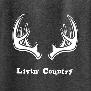 Kid's Livin' Country Antlers T-shirt