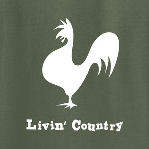 Adult Livin' Country Rooster Hoodie