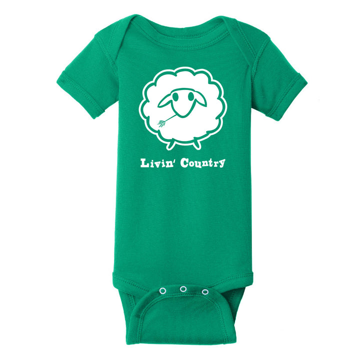 Infant Livin' Country Sheep Onesie