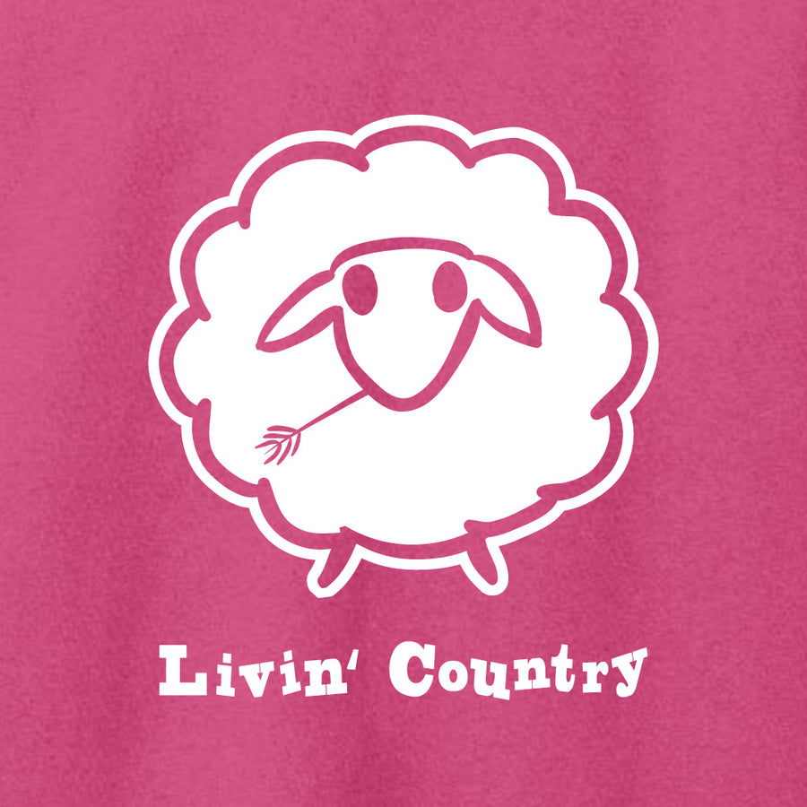 Adult Livin' Country Sheep Hoodie