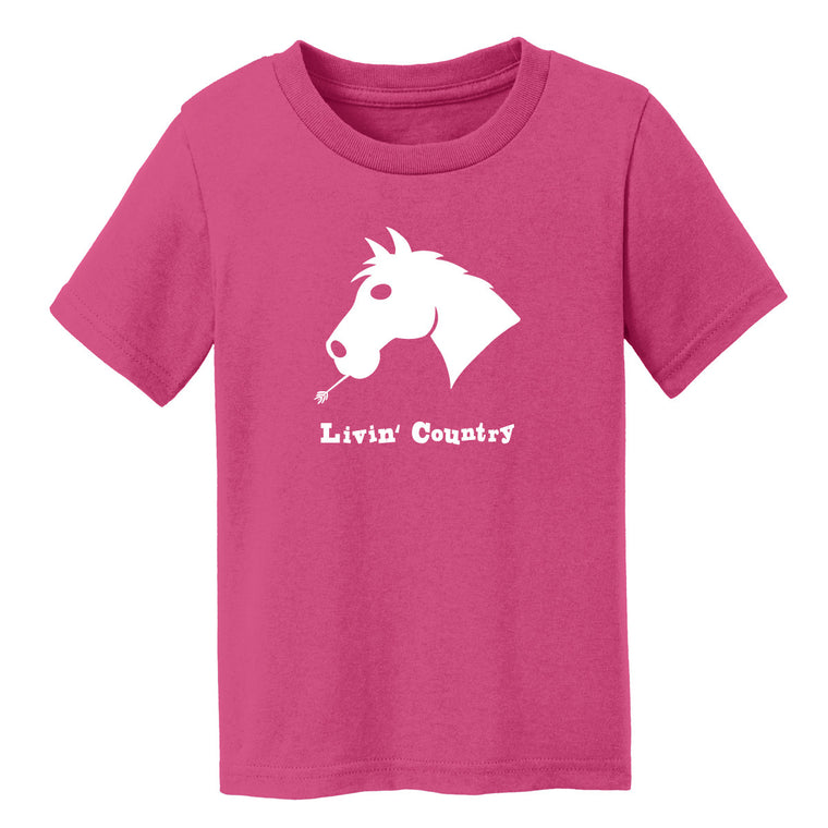 Toddler Livin' Country Horse T-shirt