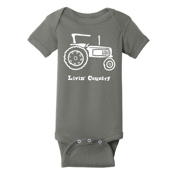 Infant Livin' Country Tractor Onesie