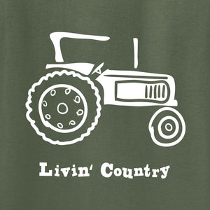 Adult Livin' Country Tractor T-shirt