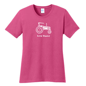 Women's Livin' Country Tractor T-shirt