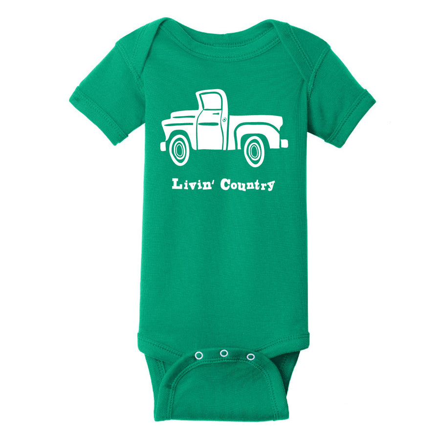 Infant Livin' Country Truck Onesie