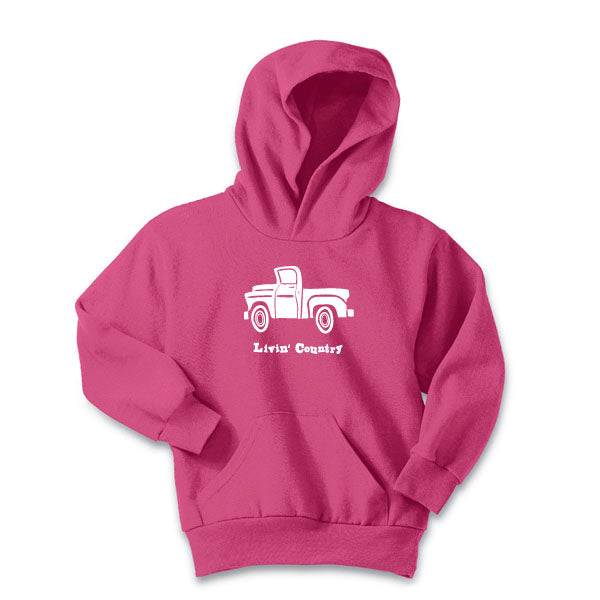 Youth Livin' Country Truck Hoodie