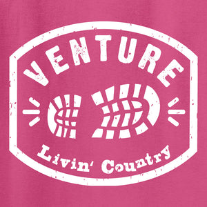 Kid's Livin' Country Venture Boot T-shirt